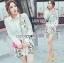 เสือผ้าเกาหลี พร้อมส่ง เสื้อเชิ้ตสีขาวและกางเกงปักลาย thumbnail 4