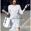 เดรสเกาหลี พร้อมส่ง เดรสทรงกิโมโน ลายทาง thumbnail 6