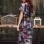ชุดเดรสเกาหลี พร้อมส่ง Dress ปริ้นลายใบไม้ thumbnail 6