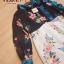 เดรสเกาหลี พร้อมส่ง เดรสสกรีนลายดอกไม้ เปิดไหล่ thumbnail 9