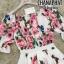 เดรสเกาหลี พร้อมส่ง เดรส D&G พิมพ์ลายดอกกุหลาบ thumbnail 7