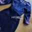ชุดเดรสเกาหลี พร้อมส่ง เดรสยาว ผ้าเครปสีกรมท่า ปักลายดอกไม้ thumbnail 14