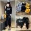 เสือผ้าแฟชั่นเกาหลี พร้อมส่ง เสื้อ+กางเกง BRAND GUCCI thumbnail 4