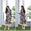ชุดเดรสเกาหลี พร้อมส่ง เดรส ผ้า Chiffon พิมลายดอกไม้ thumbnail 15