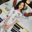 เดรสเกาหลี พร้อมส่ง เดรสสั้น เนื้อผ้าcotton+polyester thumbnail 4