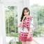 เสื้อผ้าเกาหลีพร้อมส่ง จั๊มสูทพิมพ์ลายเชิง thumbnail 4