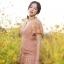 ชุดเดรสเกาหลี พร้อมส่ง ชุดเดรส กระโปรงผ้าลูกไม้ คอวี thumbnail 4