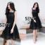 พร้อมส่ง Dress งานเรียบหรู สวย เดรสผ้าตาข่าย thumbnail 13