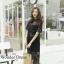 เดรสเกาหลี พร้อมส่ง เดรสสายเดี่ยวกับเดรสลูกไม้ตัวนอก thumbnail 2