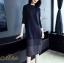 เดรสเกาหลี พร้อมส่ง Dress คอกลม แขนยาว ทรงตรง thumbnail 1