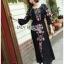 ชุดเดรสเกาหลี พร้อมส่ง เดรสยาว ลายดอกไม้สไตล์โบฮีเมียน thumbnail 7