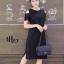 เดรสเกาหลี พร้อมส่ง Sleeveless V Dress เว้าไหล่ thumbnail 9