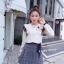 เสื้อเกาหลี พร้อมส่ง เสื้อเกาหลี ทรงแขนพอง thumbnail 6