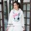 เสื้อเกาหลี พร้อมส่ง จั้มเปอร์ฮู้ด ลายกระต่าย thumbnail 12