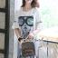 เดรสเกาหลี พร้อมส่ง เดรสยีนส์ ลายหน้าผู้หญิง thumbnail 12