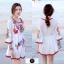 เดรสเกาหลี พร้อมส่ง Mini dress งานปักสไตล์โบฮีเมียน thumbnail 6