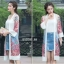 เสื้อคลุมเกาหลี งานปักดอกไม้ พร้อมส่ง thumbnail 4
