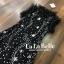 ชุดเดรสเกาหลี ผ้าตาข่ายลายดาวกากเพชร พร้อมส่ง thumbnail 4
