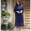 ชุดเดรสเกาหลี พร้อมส่ง Dress ลูกไม้ ลายทางฉลุ thumbnail 11