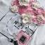 พร้อมส่ง ทีเชิ้ตสีขาวปักดอกไม้สไตล์CHANEL thumbnail 10