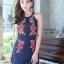 เสื้อผ้าแฟชั่นเกาหลี จั้มสูทปักดอกกุหลาบ พร้อมส่ง thumbnail 13