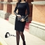 พร้อมส่ง Mini dressสีพื้นแขนยาว thumbnail 6
