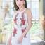 เสื้อผ้าแฟชั่นเกาหลี จั้มสูทปักดอกกุหลาบ พร้อมส่ง thumbnail 18