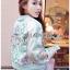 พร้อมส่ง แจ๊กเก็ตสีชมพูปักลายดอกไม้ thumbnail 4