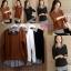เสื้อเกาหลี พร้อมส่ง เสื้อปกเชิ้ตและต่อชายริ้ว thumbnail 5