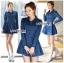 ชุดเดรสเกาหลี พร้อมส่ง เชิ้ตเดรส ผ้าเดนิมสีน้ำเงิน thumbnail 1