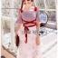 เดรสเกาหลี พร้อมส่ง เดรสลายสก็อตกระโปรงดอกไม้ thumbnail 3