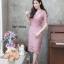 ชุดเดรสเกาหลี พร้อมส่ง Dress ลูกไม้คอวี thumbnail 1