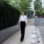 เสื้อผ้าเกาหลี พร้อมส่ง จั๊มสูท มีซับในอย่างดี thumbnail 5