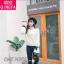 เสื้อเกาหลี พร้อมส่ง เสื้อไหมพรมคอสูง thumbnail 9