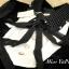 เดรสเกาหลี พร้อมส่ง Dress คอลใหม่ ตกแต่งโบว์ใหญ่ thumbnail 6