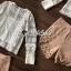 เสื้อผ้าเกาหลี พร้อมส่ง เสื้อลูกไม้กับกางเกงขาสั้น thumbnail 3