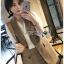 เสือผ้าแฟชันเกาหลี พร้อมส่ง เซ็ตเสื้อสูทลายสก๊อต thumbnail 3