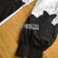 พร้อมส่ง เชิ้ตสีขาวตกแต่งผ้าลูกไม้ปักลายสีดำ thumbnail 17
