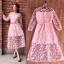 ชุดเดรสเกาหลี พร้อมส่ง Maxi dress เดรสลูกไม้ thumbnail 2