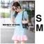 เดรสเกาหลี พร้อมส่ง มินิเดรส ลายม้าหมุน เข้ารูป thumbnail 2