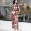 ชุดเดรสเกาหลี พร้อมส่ง เดรสลายดอก คอวี ผ้าพริ้ว thumbnail 16