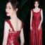 ชุดเดรสเกาหลี พร้อมส่ง Maxi Dress เดรสยาว สายเดี่ยวสีแดง thumbnail 2