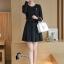 พร้อมส่ง Mini dress เรียบร้อยสีดำ thumbnail 5