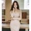 เดรสเกาหลี พร้อมส่ง เดรสลูกไม้ เนื้ิอนิ่ม สีครีม thumbnail 12