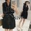 พร้อมส่ง Mini dress โทนสีดำแขนกุด thumbnail 4