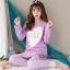 เสื้อผ้าเกาหลี พร้อมส่ง ชุดนอนเสื้อกันหนาว thumbnail 1