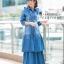 ชุดเดรสเกาหลี พร้อมส่ง Maxi Dress ยีนส์ระบาย thumbnail 6