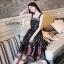 ชุดเดรสเกาหลี พร้อมส่ง Dress ยาวแขนกุดพิมพ์ลาย thumbnail 2