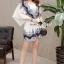 พร้อมส่ง จั้มสูทกางเกงทรงกิโมโนสไตล์สาวญี่ปุ่น thumbnail 8