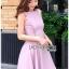 เดรสเกาหลี พร้อมส่ง เดรสผ้าเครปสีชมพูอ่อน thumbnail 10